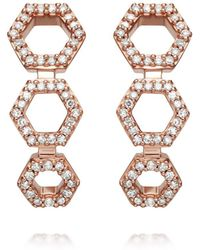 Astley Clarke - Triple Honeycomb Stud Earrings - Lyst