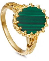Astley Clarke - Malachite Large Floris Ring - Lyst