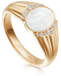 Astley Clarke - Luna Mother Of Pearl Signet Ring - Lyst