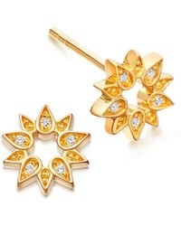 Astley Clarke - Mini Sun Biography Stud Earrings - Lyst