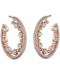 Astley Clarke - Large Icon Nova Opal Hoop Earrings - Lyst