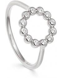 Astley Clarke - Stilla Arc Sapphire Beaded Ring - Lyst