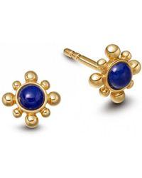 Astley Clarke Lapis Mini Floris Stud Earrings - Multicolour