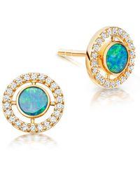 Astley Clarke - Opal Mini Icon Aura Studs - Lyst