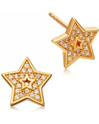 Astley Clarke - Mini Star Biography Stud Earrings - Lyst