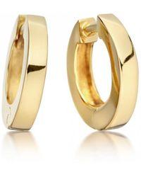 Astley Clarke - Mini Stilla Gold Hoop Earrings - Lyst