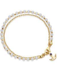 Astley Clarke - Blue Agate Anchor Biography Bracelet - Lyst