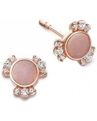 Astley Clarke - Luna Mini Lace Agate Stud Earrings - Lyst