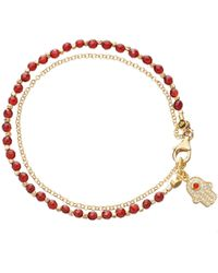 Astley Clarke - Agate Hamsa Biography Bracelet - Lyst