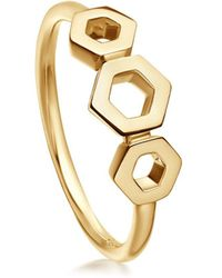 Astley Clarke - Plain Triple Honeycomb Ring - Lyst