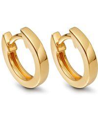 Astley Clarke - Mini Halo Gold Hoop Earrings - Lyst
