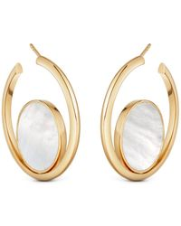 Astley Clarke - Stilla Slice Mother Of Pearl Hoop Earrings - Lyst
