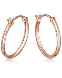 Astley Clarke - Medium Stilla Rose Gold Hoop Earrings - Lyst
