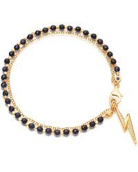 Astley Clarke - Midnight Lightning Bolt Biography Bracelet - Lyst