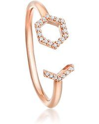 Astley Clarke - Open Honeycomb Varro Ring - Lyst