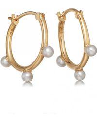 Astley Clarke - Hazel Pearl Hoop Earrings - Lyst