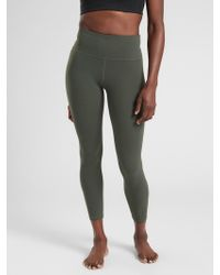 69313c2bcfd988 Athleta Elation Paradise 7/8 Tight in Gray - Lyst