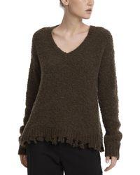 ATM - Destroyed V-neck Sweater - Lyst