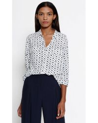 Equipment - Signature Silk Shirt In Bright White Moon Print - Lyst