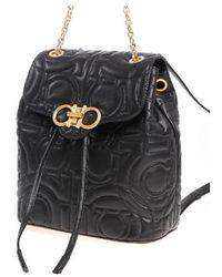 Ferragamo - Backpack In Black - Lyst