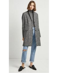French Connection - Beverly Tweed Coat - Lyst