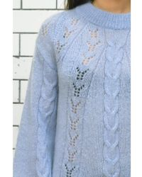 Second Female - Mo Balloon Blue O-neck Knit - Lyst