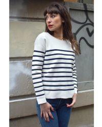 Suncoo - Pauline Blanc Casse Sweater - Lyst