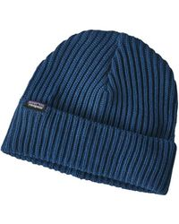 Patagonia - Fishermans Rolled Beanie Stone Blue - Lyst
