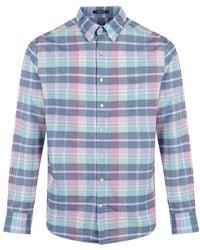 GANT - Men's Madras Plaid Shirt - Lyst