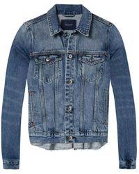 Maison Scotch - Pleated Trucker Jacket In Alacarte - Lyst