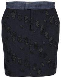 Custommade• - Kimsa Skirt In Navy - Lyst