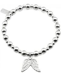 ChloBo - Mini Small Ball Bracelet With Double Wing Charm - Lyst