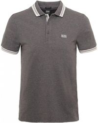 BOSS Green - Knitted Cotton Paddy Polo Shirt - Lyst