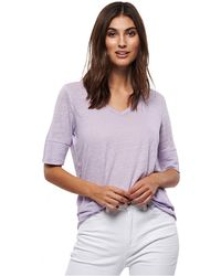 Part Two - Curly Lilac Linen T-shirt - Lyst