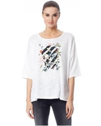 360cashmere - 360 Jumper Fanny Printed T-shirt White Multi - Lyst