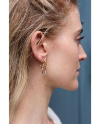 Maria Black - Norma Medi Gold & Silver Hoop Earring - Lyst