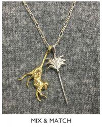 Anna + Nina - Palm Tree Necklace Charm - Lyst