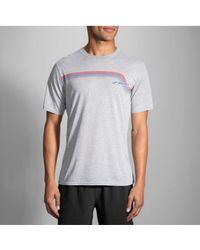 Brooks - Track T Shirt - Lyst