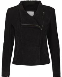 Second Female - Adelaide Suede Jacket In Black - Lyst