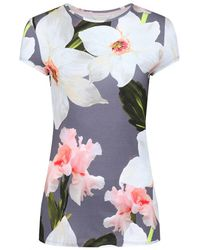 Ted Baker - Women's Elijae Chatsworth Bloom Fitted T-shirt - Lyst