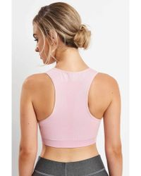 5c216a3490594 Lyst - Falke Madison Low Support Jersey Sports Bra in Red