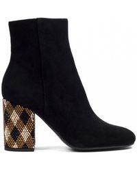 Lola Cruz - Centauro Crystal-embellished Suede Ankle Boots - Lyst
