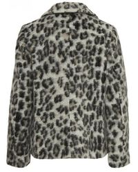 Part Two - Manda Leopard Coat - Lyst