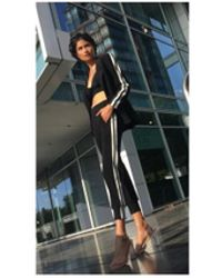 Norma Kamali - Women's Kk1287pl026073 Side Jog Black Pant - Lyst