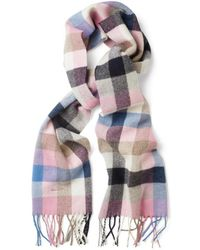 GANT - Women's Multi Check Lambswool Scarf - Lyst