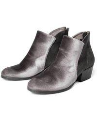 Hudson Jeans - Hudson Apisi Velvet Boot In Grey - Lyst