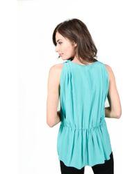 Missoni - M Turquoise Silk Top - Lyst