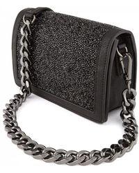 Essentiel - Antwerp Ripstick Sparkly Chain Strap Bag Black - Lyst