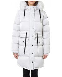 Pajar - Chrissy Long Parka Coat Silver - Lyst