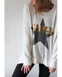 A Postcard From Brighton - Superstar Curved Back Sweat Vanilla - Lyst